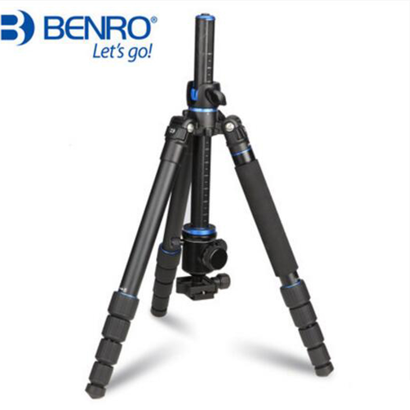 Benro GA269TB2 Aluminum Tripod Kit Professional Camera Tripod With Ball Head Flexible Center Column Stable Bracket Portable Set dhl gopro benro a550fhd2 urban elf kit aluminum tripod three dimensional head camera tripod