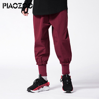 Boys Cotton Pants loose high waist Leisure Hip hop harem pants homens elastic waist jogger sport pants trausers for boys P20