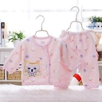 2pcs Set Children Autumn Winter Newborn Baby Girl Clothes Infant Clothing Soft Flannel Baby Boy Clothing