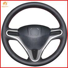 MEWANT для Honda Fit городской Джаз 2009 2010 2011 2012 2013/Honda Insight 2010- черная искусственная кожа Чехлы на руль