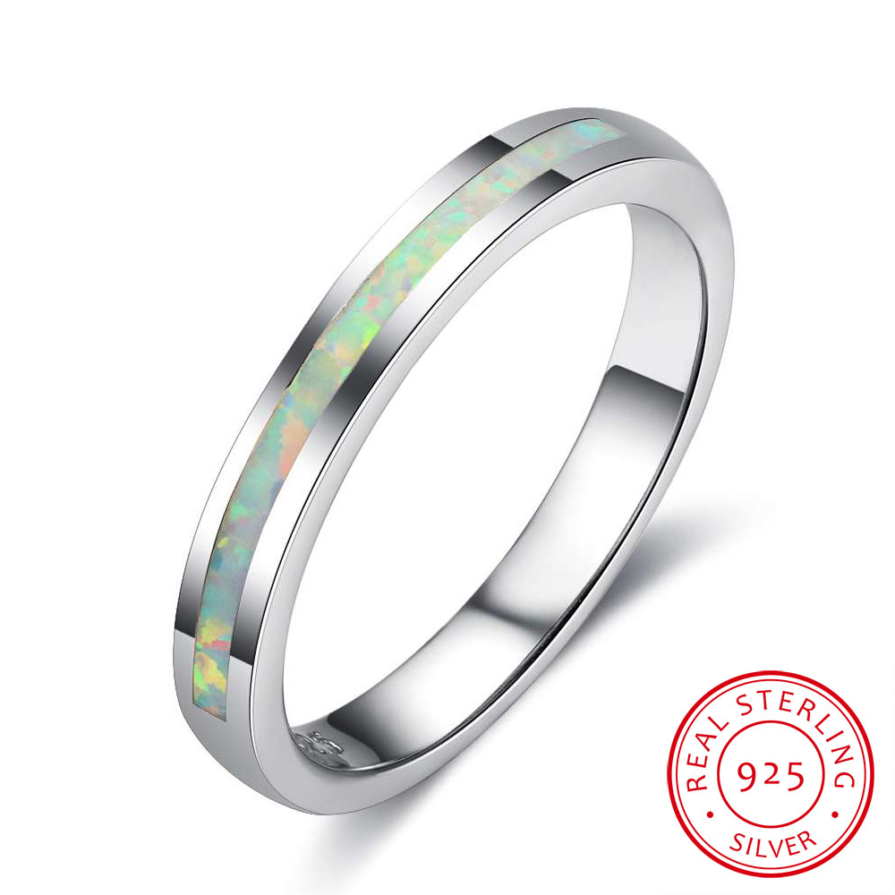 2018 Real 925 Sterling Silver White Opal Stone Vintage Rings For Women Fine Jewelry Valentines Day Gift For Wife (Lam Hub Fong)