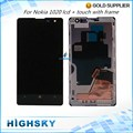 Black For Nokia Lumia 1020 LCD Display With Touch Screen Digitizer LCD Assembly With Frame 1 Piece Free shipping New Tested