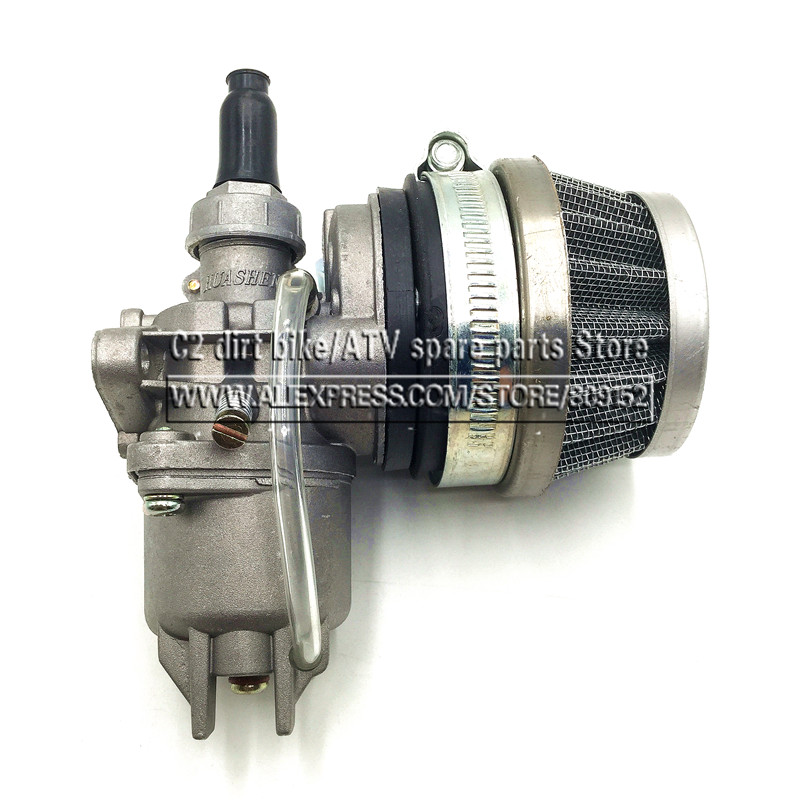 Pocket Bike 47cc 49cc engine carb carburetor with Pod Air Filter 2 stroke for Mini Quad