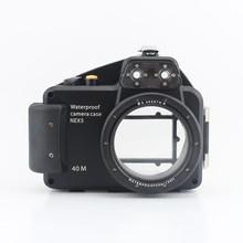 цена на Meikon 40m/130ft Diving Camera Underwater Waterproof Housing Bag Case for Sony Nex-5 Nex5 Camera With 16mm Lens