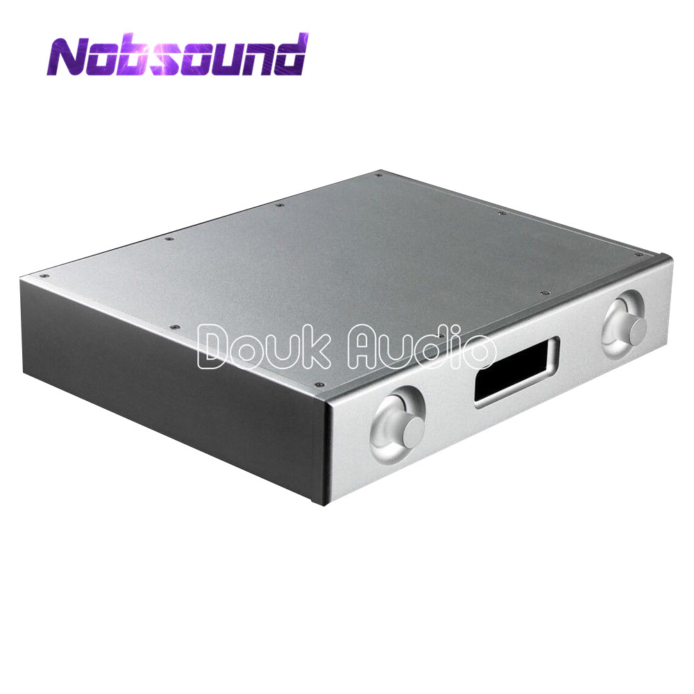White Aluminum Chassis DAC Audio Decoder Enclosure DIY Case Box W320 H62 D252mm