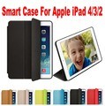 20pcs/Lot DHL Free Brand New Smart Case For Apple iPad 4/3/2 1:1 Official Original Fashion Ultra thin Filp Cover NO: I4001
