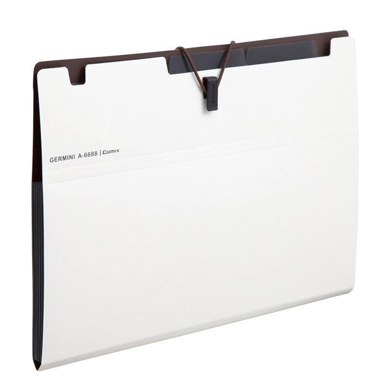 Comix 6 capa de Expansión Carpeta De Archivos Bolsa de Órganos A5 Organizador Titular de Papel Carpeta de Documentos Útiles Escolares