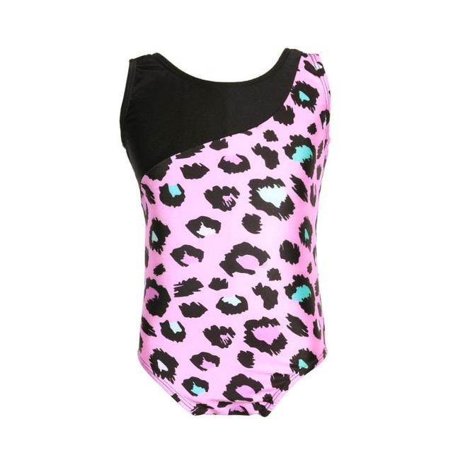 f6c6f78e27a8 Girls Kids Gymnastics Leotard One Piece Sleeveless Sports Tights ...