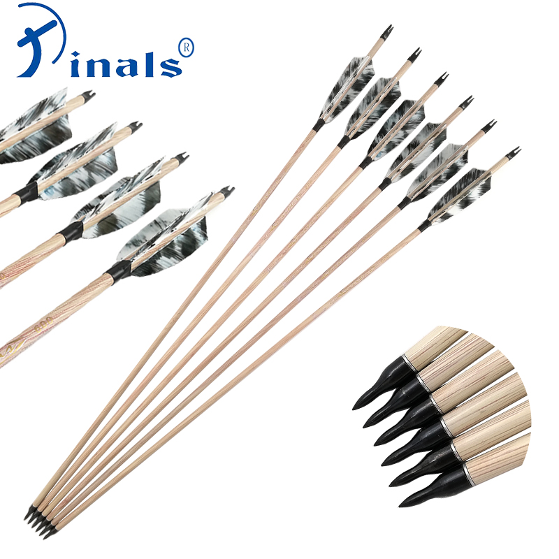 Inals Archery Carbon Arrows Shaft Spine 400 500 600 32 inch 4inch Turkey Fletching Point 100gr