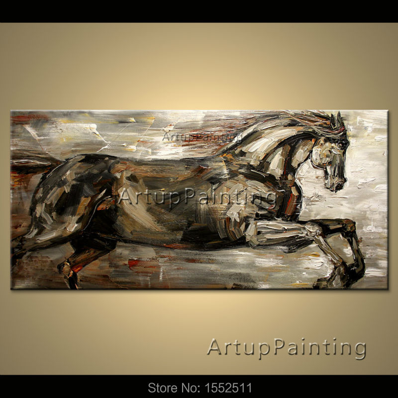 Modern abstract horse oil paintings on canvas pop art animals pop art wall pictures for living room home decor 1