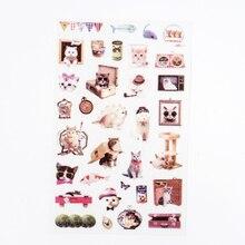 6 pcs/lot Japanese wind cats sticker DIY diary album decoration stickers scrapbooking planner label Scrapbook