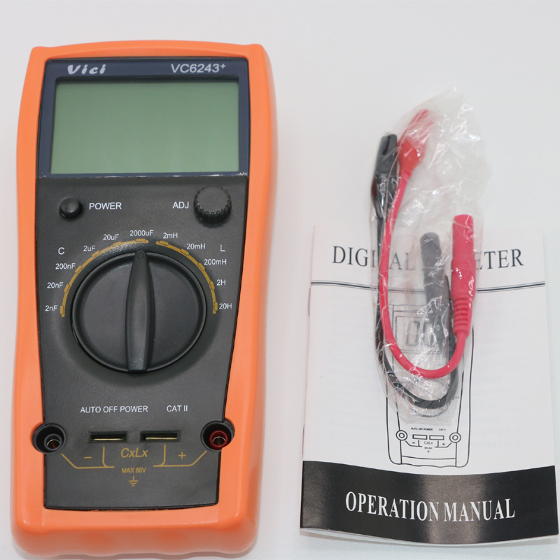 VICI VC6243+ LC Meter 1999 counts Inductance 2mH-20H digital Capacitance meter LCR tester inductance meter 0-2000uF high precision digital capacitance inductance meter auto ranging component tester 500kh lc rc oscillation inductance multimeter
