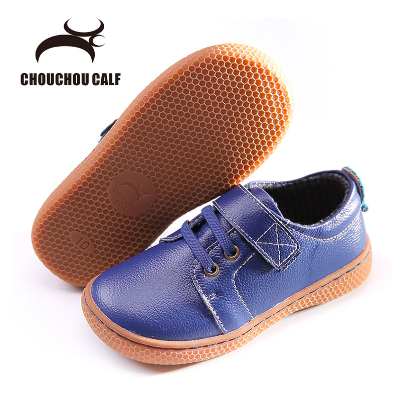 2018 Newest Kids leather shoes Children barefoot shoes Honeycomb shape sole boy Genuine  ...