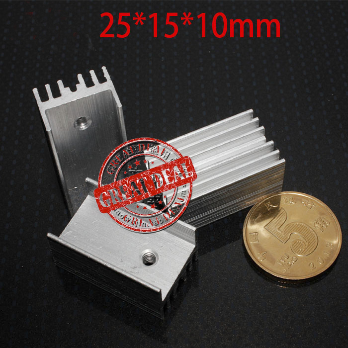 Free Shipping 100PCS Aluminum IC Heatsink  25*15*11MM To220 Transistor Heatsink TO-220 Heatsink
