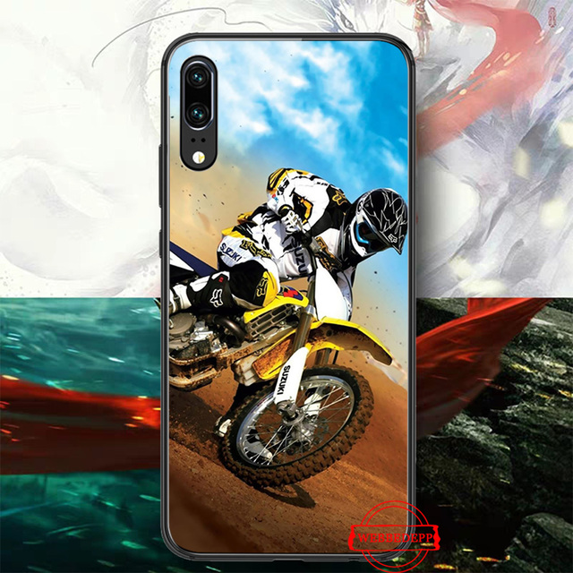 Motocross moto Silicone Case for Huawei P8 Lite 2015 2017 P9 2016 Mimi P10 P20 Pro P Smart 2019 P30