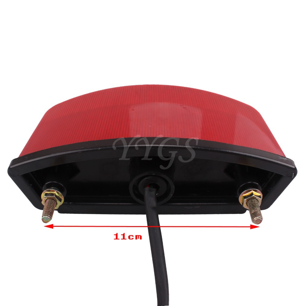 Red 21 Led Universal Motorcycle Atv Dirt Bike Brake Rear Tail