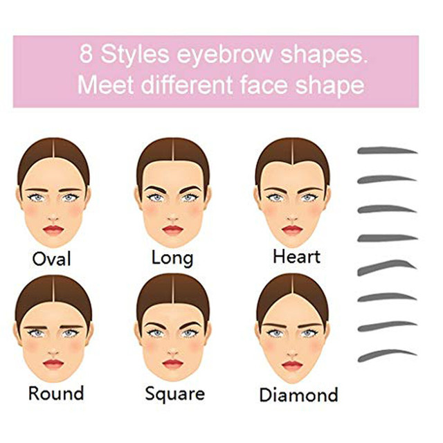 Eyebrow mold hand-held adjustable Eyebrow Stencil 8 Styles Eyebrow Shapes DIY Grooming Stencil Kit Shaping Templat, 5