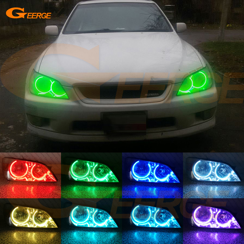 цена на For Toyota Altezza SXE10 Gita (Japan) Excellent Angel Eyes Multi-Color Ultra bright RGB LED Angel Eyes kit Halo Rings