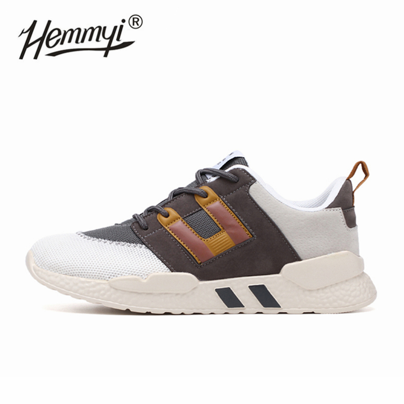Hemmyi Retro Style Men Sneakers Autumn Outdoor Jogging Sport Shoes for Men Mesh Breathable Athletic Running Shoes(China)