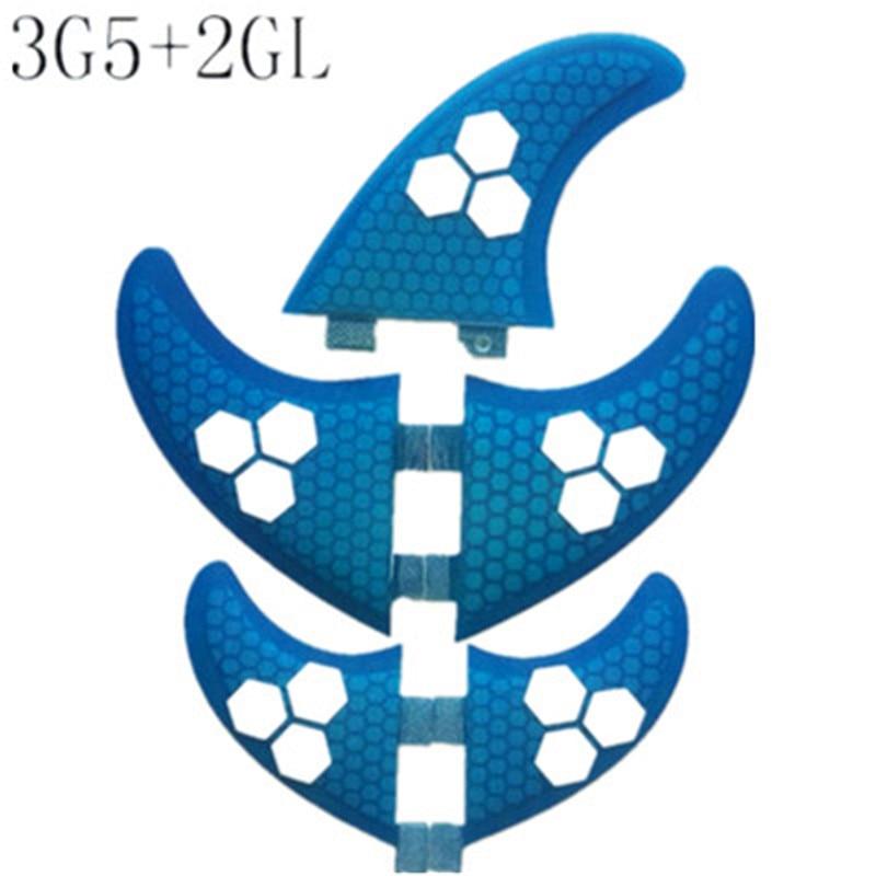 Micfin 5 pcs/lot Surfer Nageoire FCS G5 G3 ensemble pour planche de surf trois G5 ensemble + 2 pcs GL (gauche, droit) SUP conseil Surf Pataugeoire quilhas fcs