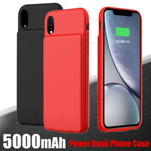 Fashion Silicone Charger Case 5000mAh for iPhone XR/XS Max Portable Power Bank Battery Charging Case Cover
