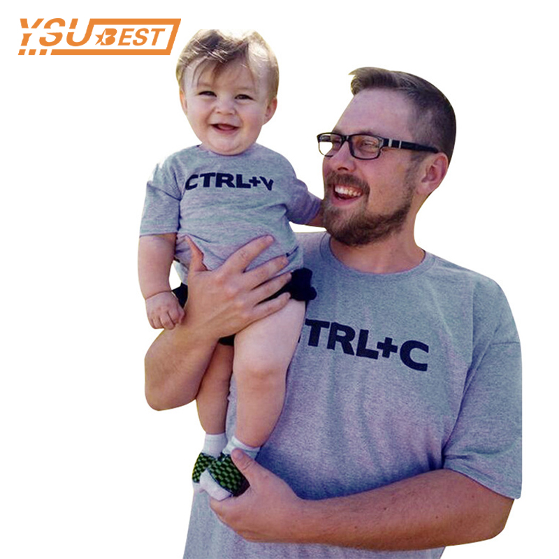2018 Family CTRL C +CTRL V Pattern Family Look Dad Son T Shirts Fashion Family Apparel C ...