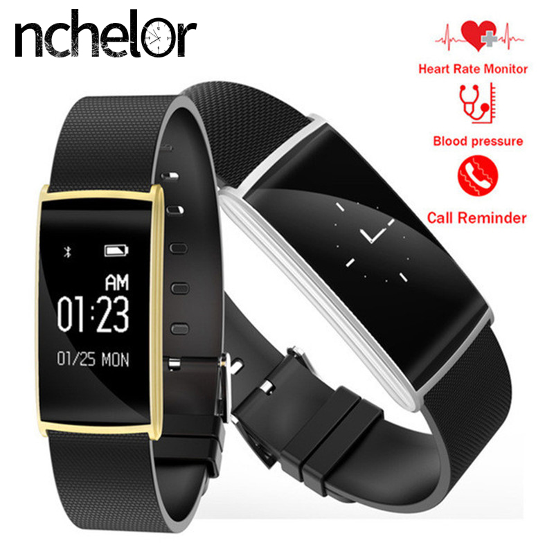 Smart Bracelet HR with Call SMS Reminder Remote Camera IP67 Waterproof Sedentary Reminder for Android IOS Men Women Smart Watch bangwei men women smart watch information vibration reminder sedentary reminder music player fashion fitness smart digital watch