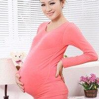 Kidadndy для беременных бесшовная высокая эластичность хлопок толстые живот беременной Лифт Термальность комплект нижнего белья с регулировка пояса FF331