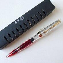 Wing Sung 618 classique stylo à plume Piston Transparent authentique qualité Iridium Fine 0.5mm exceptionnel stylo à encre écriture cadeau ensemble