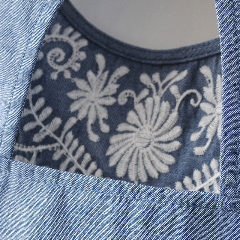 HTB1pPvKPVXXXXaSXXXXq6xXFXXX7 - Women elegant embroidery sleeveless denim shirts back