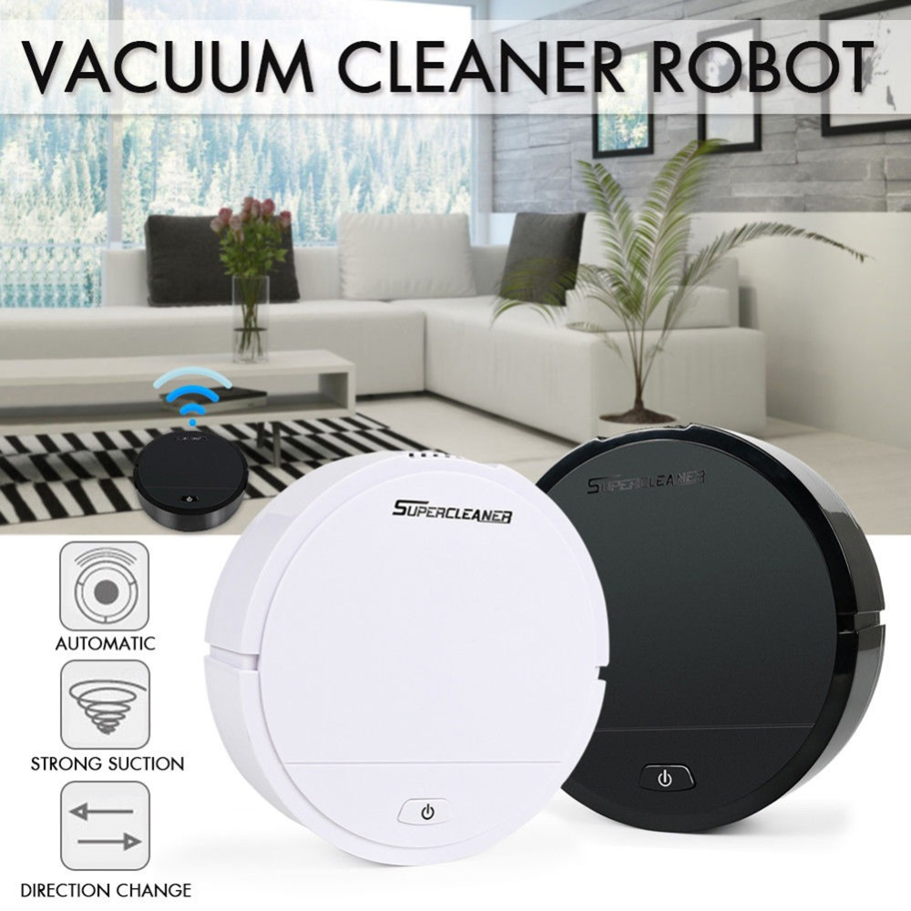 Practical Automatic Smart Sweeping Robot Vacuum Cleaner Strong Suction Dry Wet Clean  For Home Appliances Smart Sweeper#291906