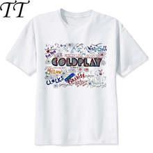 Coldplay camiseta estilo hip hop, nova camiseta de design original, masculina e feminina, cor m8010