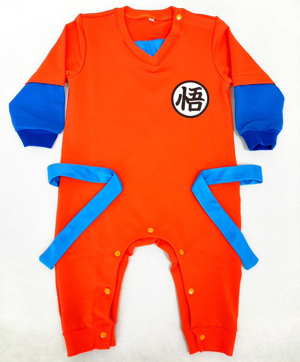 Dragon Ball Z Son Goku Suit for Boy Baby Clothing Halloween Costume Romper jumpsuit Costume toddllers Cosplay