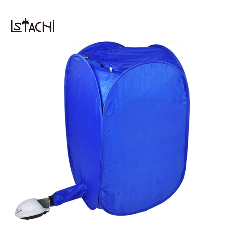 LSTACHi Mini Blue Portable Electric Air Clothes Dryer Folding Fast Drying Machine 800W Multipurpose Cloth Dryer Machine 220v bake shoe device drying machine sterilization antiperspirant folding portable electric shoe dryer shoes boots gloves