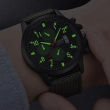 Reloj Hombre XINEW Men s Watch Luminous Sport Wrist Watch Men Fashion Nylon  Band Military Watch Calendar 5f2661771e