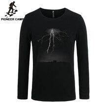 Pioneer Camp 2017 футболки мужчин с длинным рукавом молния печати случайные хлопок мужской футболки тонкий эластичный 3D мужчина с длинным рукавом T рубашка(China (Mainland))