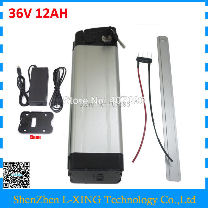 36 V electric bike battery 36V 12AH 500W silver fish Battery 36v 12ah Use for samsung 18650 cell with 15A BMS 42V 2A Charger liitokala 36v 6ah 500w 18650 lithium battery 36v 8ah electric bike battery with pvc case for electric bicycle 42v 2a charger