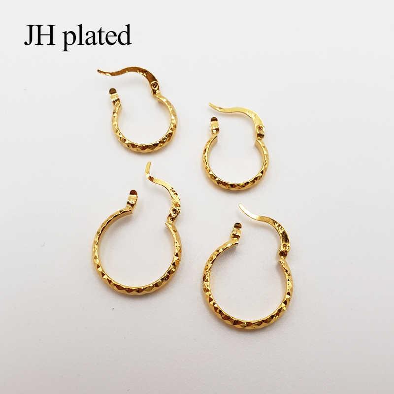 JHplated 2019 الأزياء 24 K smalll الذهب اللون أقراط للنساء/مجوهرات للبنات الاثيوبية أفريقيا ، العربية ، الشرق الأوسط أفضل الهدايا
