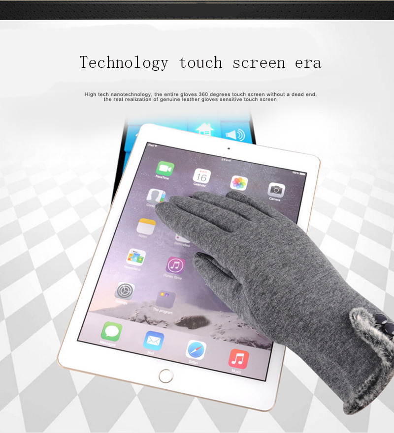 Comfortable and Warm Non Inverted Touch Screen Gloves for Women with Sensitive Touch Screen Function without Hand Exposing to Cold 18