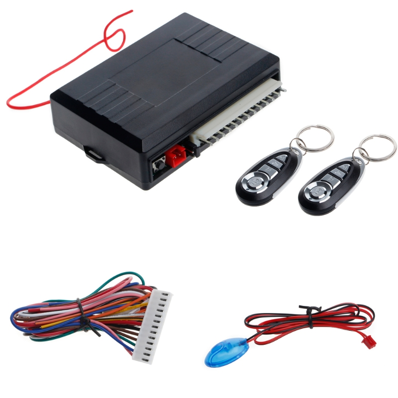 Universal Car Alarm Systems Auto Remote Central Kit Door Lock Vehicle Keyless Entry System Central Locking With Remote Control|Burglar Alarm| |  - title=