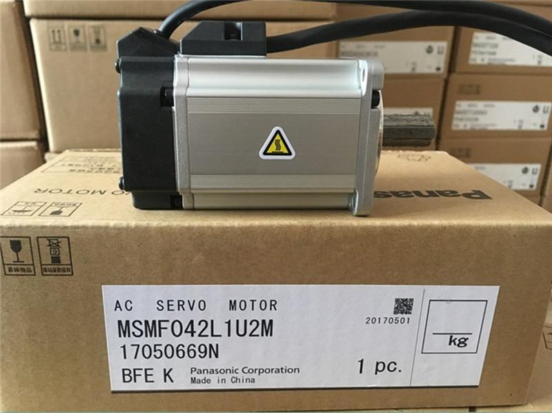MSMF042L1U2M AC Servo motor 60mm frame 400w 3000rpm 1.27Nm new original servo motor msmd042g1u 400w 3000rpm 1 3n m full closed type 60mm