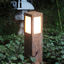 Chinese style creative resin led waterproof outdoor spotlight villa residential corridor driveway light post