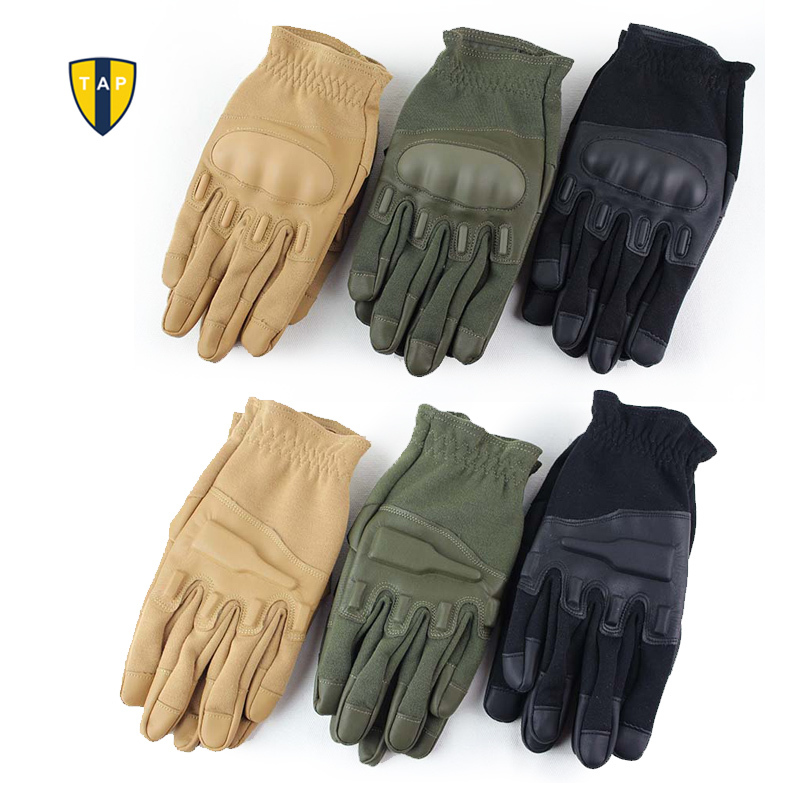 Motor Ride Army Guanti moto da corsa Tactical Shooting Airsoft Paintball Sport Militare Guanti in pelle pieno dito Uomo Luva
