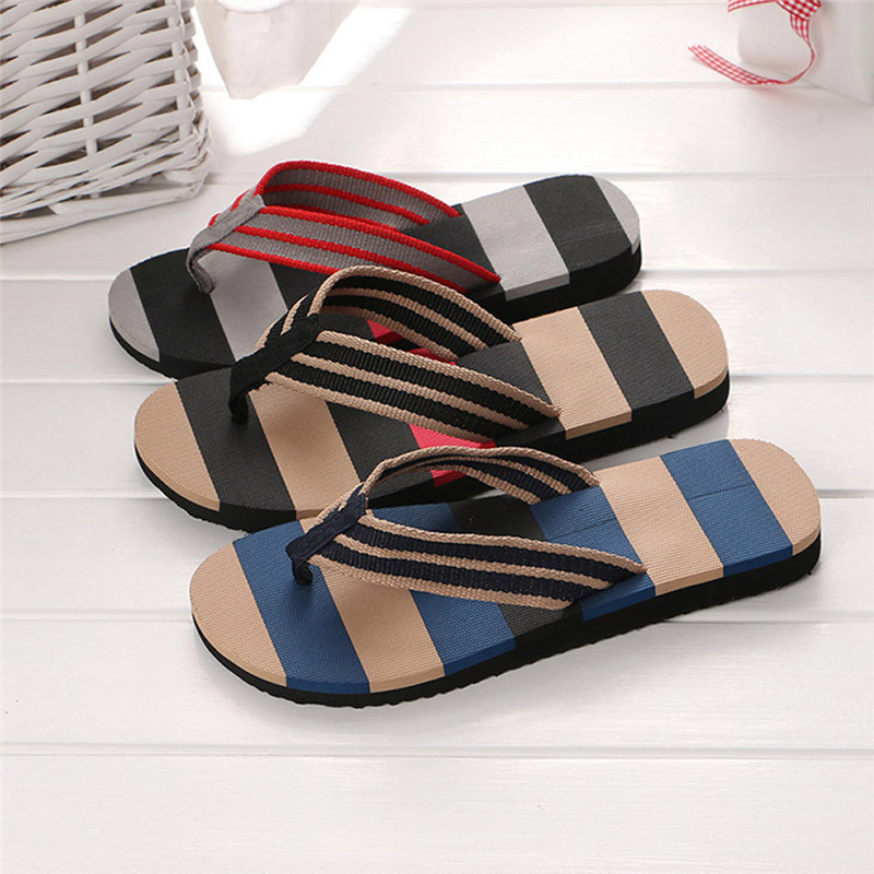 Men Summer Shoes Mixed Colors Sandals Male Slipper Indoor Outdoor Flip Flops Beach Shoes Mans Footwear Terlik Kapcie 40FE05