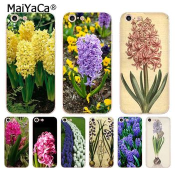 MaiYaCa Hyacinthus orientalis L transparent soft tpu phone case cover for iPhone 8 7 6 6S Plus X 5 5S SE 11pro max Cases image