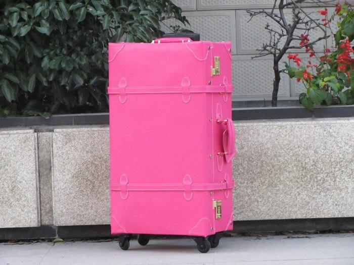 Customized!!!Vintage travel bag,high quality universal wheels pu leather 17,19,21,23,27,29 travel trolley luggage bag