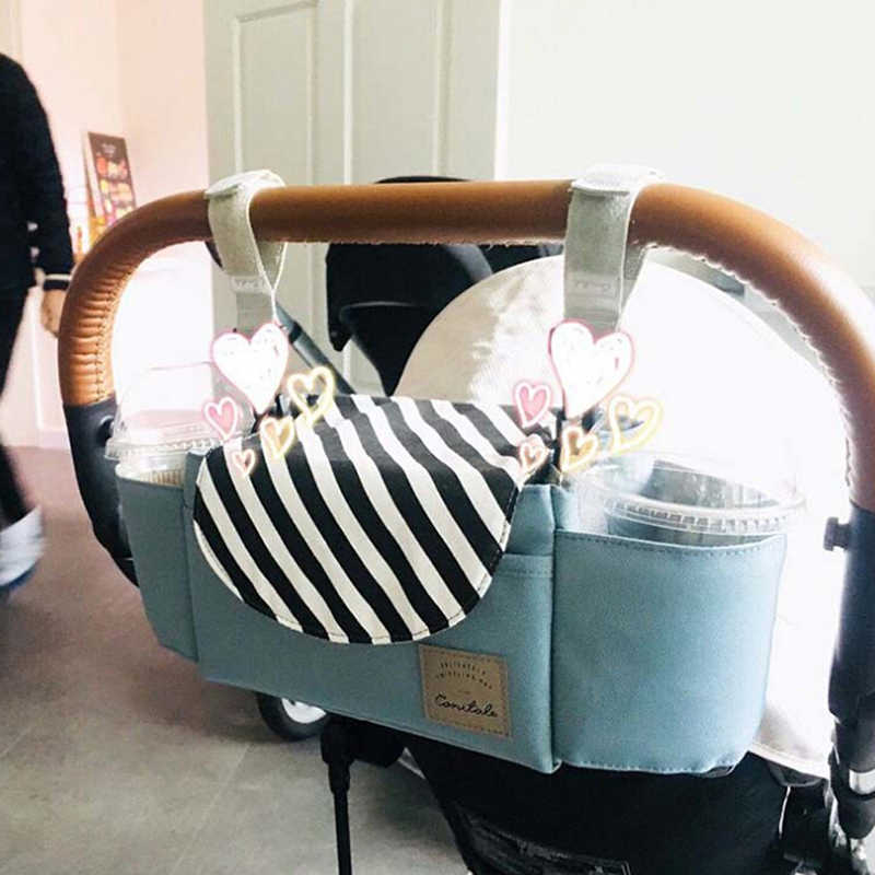 Baby Stroller Hanging Bag Multi-function Large Capacity Diaper Nappy Milk Bottle Storage Bag Trolley Mummy Bags Accessory Hot
