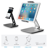 Metal Adjustable Tablet Holder Support 3.5 10.5 inch Tablets Phone Desk Clamp Mount Lazy Stand for iPad Pro 9.7 aipad mini 3 4 5