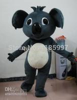 NEW HOT SALE Gray koala bear cartoon Mascot Costume Fancy Dress Animal mascot costume free shipping