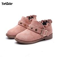 Yorkzaler Autumn Winter Kids Boots 2018 New Fashion Rivet Non Slip Leather Children S Shoes Casual